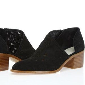 1. State Iddah Black Perforated Cutaway Booties 7